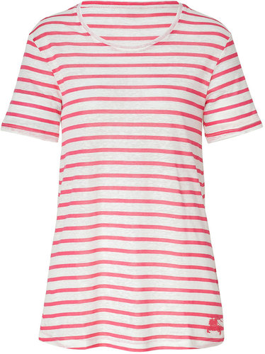 Burberry Brit Sweet Pink and White Striped Tee