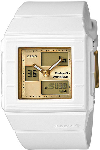 Baby-G Watch, Women's Analog Digital White Resin Strap 43x36mm BGA200-7E4