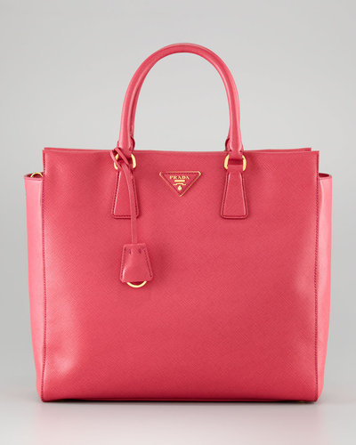Prada Saffiano Medium Double-Handle Tote Bag