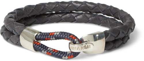 Miansai Waypoint Woven-Leather Bracelet