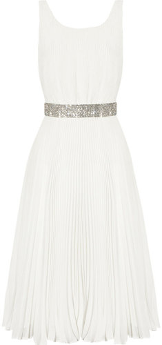 Alice + Olivia Cora pliss-georgette dress