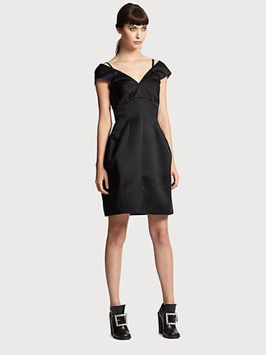 Marc Jacobs Off-The-Shoulder Satin Dress