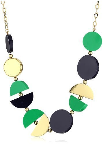 Kate Spade New York Double Exposure Green Long Necklace