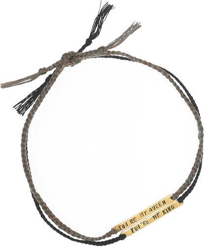 Mathias Chaize Set of two gold-plated cotton bracelets