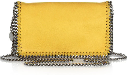 Stella McCartney Falabella small faux suede shoulder bag