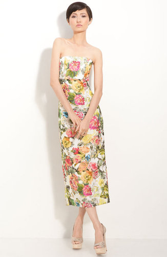 Alice + Olivia &#039;Sara&#039; Floral Print Strapless Dress