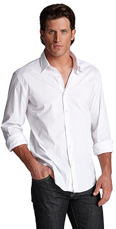 Slim Fit Cotton Stretch 'Ronny' Button Down Shirt by BOSS Black