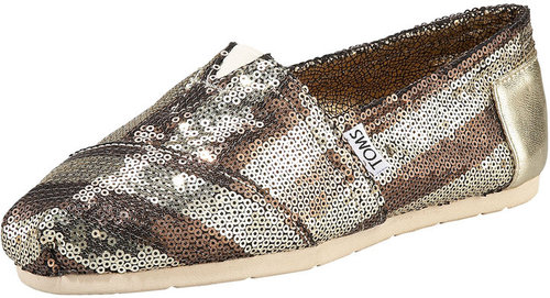 TOMS Shoes Gurley Sequined Slip-On