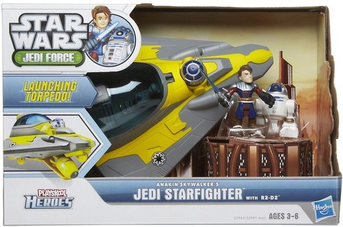 Hasbro Star Wars Jedi Force Anakin  Skywalker Jedi Starfighter R2D2