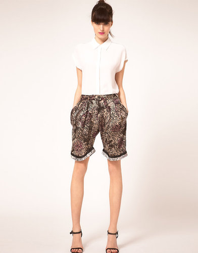 Preen Line Shorts Floral &amp; Animal Print