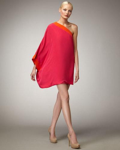 M. Missoni One-Shoulder Colorblock Dress