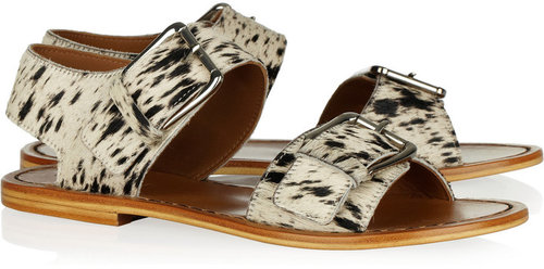 Marni Animal-print calf hair sandals
