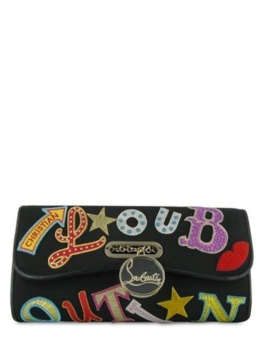 Christian Louboutin - Rivera Letters Fabric Shoulder Bag