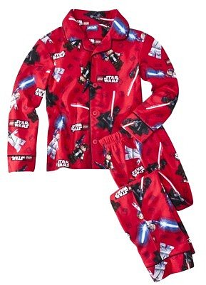 Star War Lego Boys Long-Sleeve 2-Piece Star Battle Pajama Set - Red