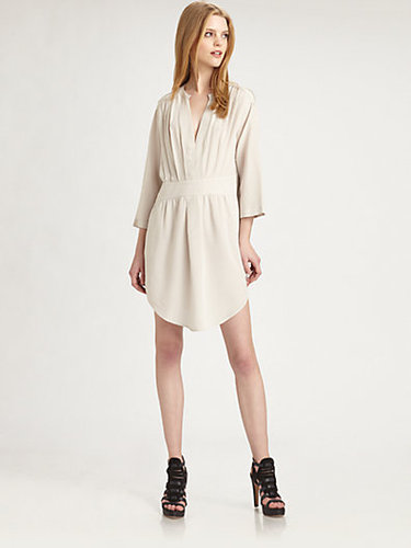 See by Chloe Pleated Silk Dress
