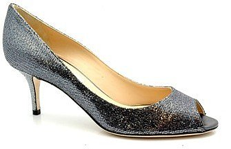 "Jimmy Choo ""Isabel"" Pewter Sequin Pumps"