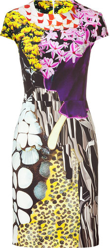 Mary Katrantzou Multicolor Print Silk Dress