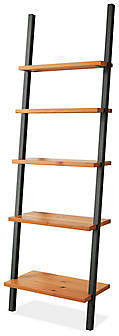 Gallery Leaning Shelves in Natural Steel