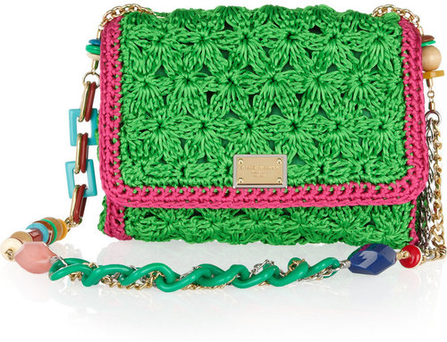 Dolce &amp; Gabbana Crocheted shoulder bag