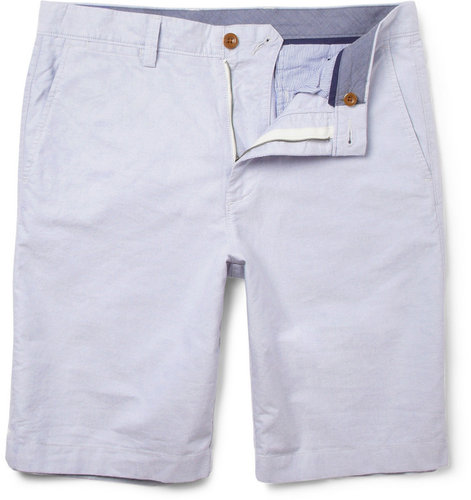 J.Crew Straight-Leg Cotton Oxford Shorts