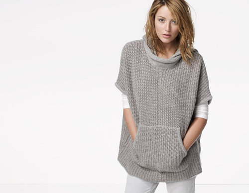 Chunky Knit Hooded Poncho