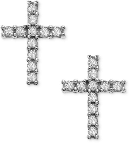 Diamond Cross Earrings for Less