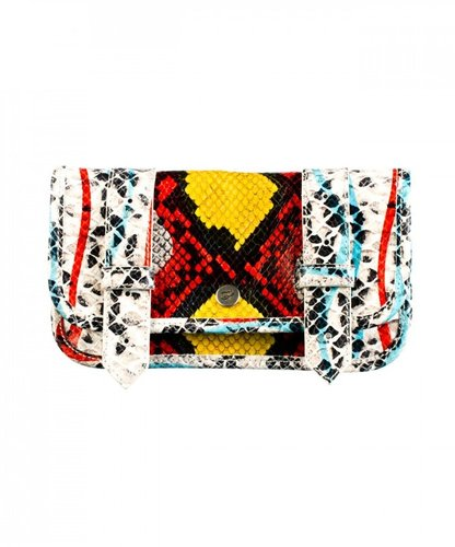 Proenza Schouler PS1 Wallet Printed Python