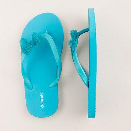 Girls' tulle bow flip-flops