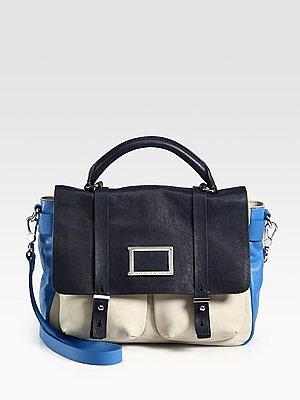 Werdie Colorblocked Top-Handle Messenger Bag
