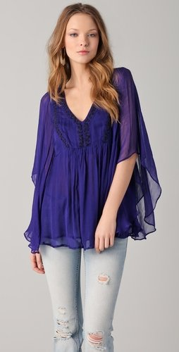Free people Crinkle Chiffon Top