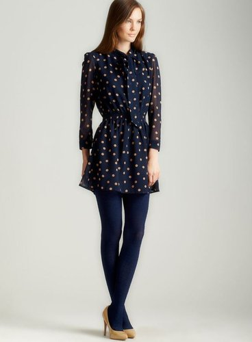 Tramp Long Sleeve Polka Dot Secretary Blouse