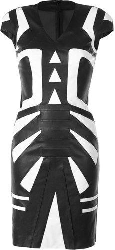 Jitrois Black Stretch Leather Dress