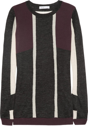See by Chloé Wool-paneled sweater