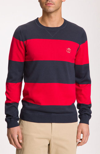 Brooks Brothers Stripe Crewneck Sweater