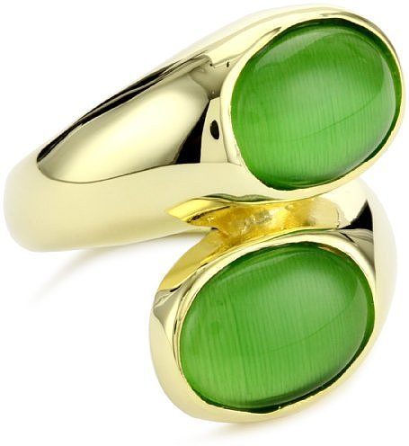 Beyond Rings Green Modern Wrap Around Ring with Internal Adjustable Band