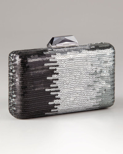 Kotur Espey Ombre Sequin Mini Box Clutch With Drop In Chain
