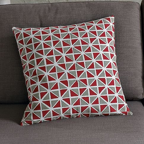 Hand-Blocked Cotton Harlequin Pillow Cover