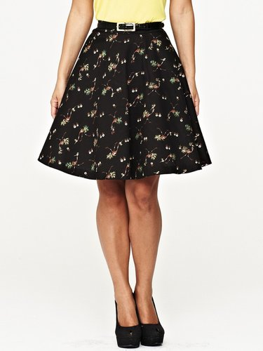 Myleene Klass Full Bird Print Skirt
