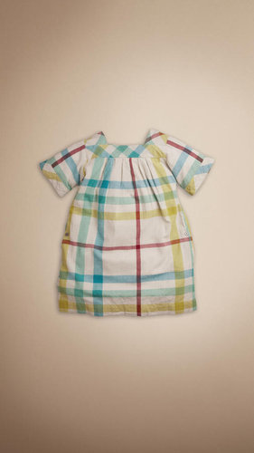 Cotton Cheesecloth Check Dress