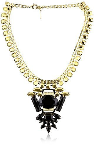 LK Designs &quot;Pacific Chic&quot; Crystal Rock Necklace