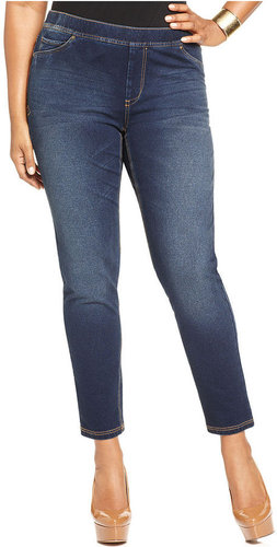 Seven7 Jeans Plus Size Jeans, Cropped Pull-On Skinny