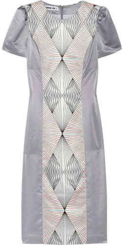 Soo Jin Lee Printed geometric crepe dress