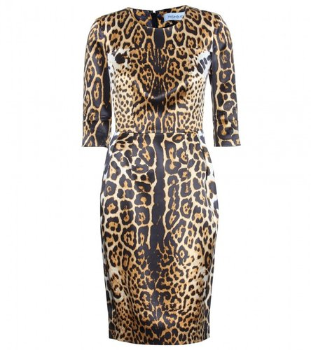 Yves Saint Laurent LEOPARD PRINT SILK DRESS