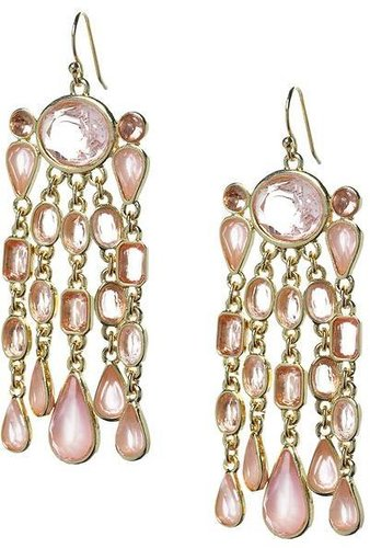 Pink sparkle drop earring