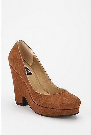 Deena & Ozzy Suede Split Wedge