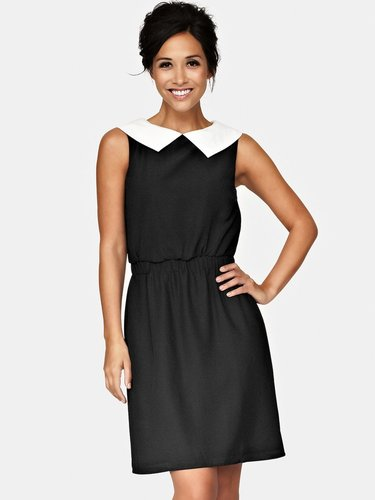 Myleene Klass Contrast Collar Shift Dress