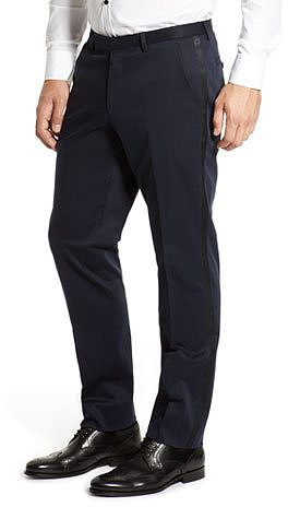 Regular Fit Tuxedo 'Dean' Pant by BOSS Black
