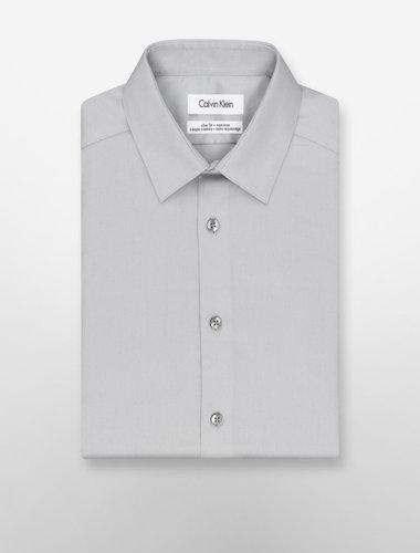 Steel Slim Fit Non-Iron Solid Poplin Dress Shirt
