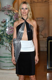 Karolina Kurkova went with a partially metallic dress for the occasion.