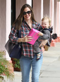 Jennifer Garner and Samuel Affleck were out and about in LA's Brentwood neighborhood.